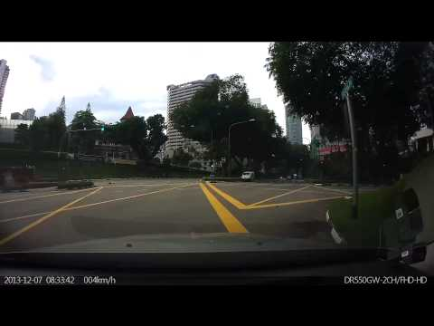 Singapore Porsche SGK4 speeds down Scotts Road