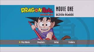 Dragon Ball Movie One: Curse of the Blood Rubies DVD main menu screen