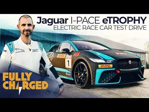 Jaguar I-PACE eTROPHY electric car racing series - Jonny Smith test drives   Fully Charged