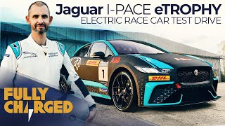 Jaguar I-PACE eTROPHY electric car racing series - Jonny Smith test drives | Fully Charged