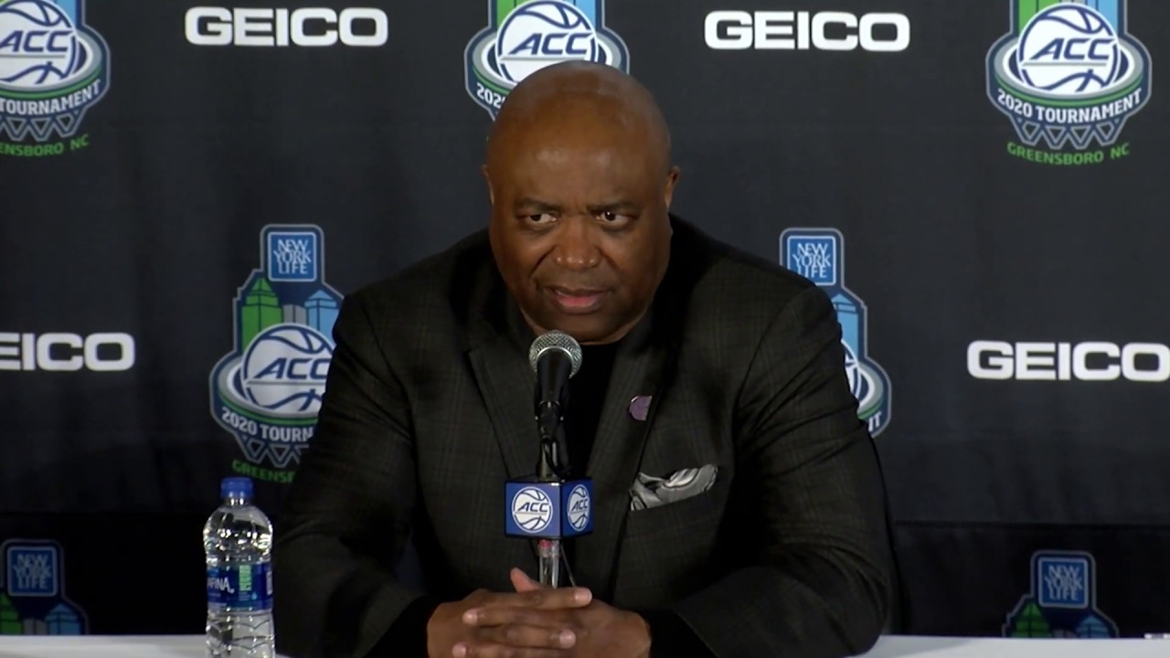 Florida State's Leonard Hamilton reacts to ACC Tournament cancellation & NCAA Tourney auto-bid