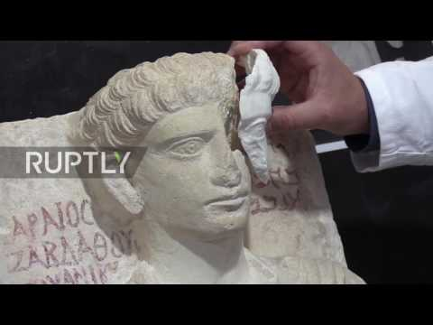 Italy: Roman scientists restore ancient sculptures from IS-ravaged Palmyra
