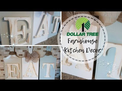 FARMHOUSE DECOR DIY | DOLLAR TREE DIY | SIMPLE KITCHEN DECOR | BUDGET FRIENDLY DECOR