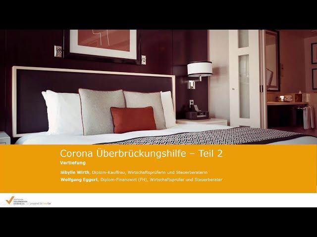 Corona-Überbrückungshilfe: Vertiefung