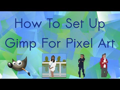 how to draw pixel art in gimp