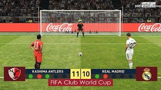 PES 2019 | KASHIMA ANTLERS vs REAL MADRID | FIFA Club Wolrd Cup 1/2 Final | Penalty Shootout