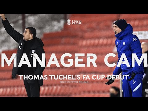 Thomas Tuchel's First FA Cup Win | Manager Cam | Barnsley v Chelsea | Fifth Round 2020-21 |