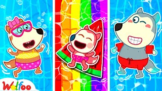 Baby Jenny Has Fun Learning to Swim with Wolfoo - Kids Stories About Baby Jenny | Wolfoo Channel