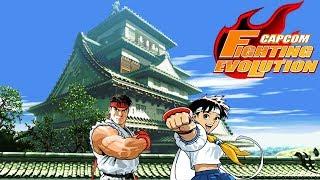 Capcom Fighting Evolution Ryu and Sakura Playthrough