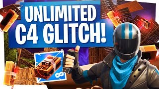 UNLIMITED C4 GLITCH in FORTNITE to CREATE FIREWORKS - Fortnite Glitch