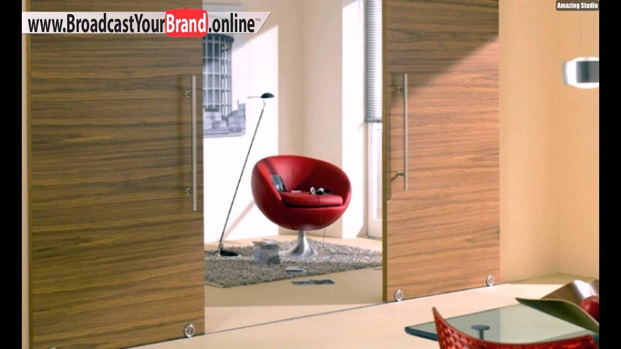 Schiebetür küche holz  Schiebetüren Holz Innen Unterschienen Küche - YouTube