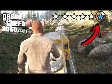 ESCAPÓ EN EL TREN CON 6 ESTRELLAS 99% IMPOSIBLE!! - Grand Theft Auto V