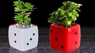 Unique cement flower vase making at home // Cement flower pot making