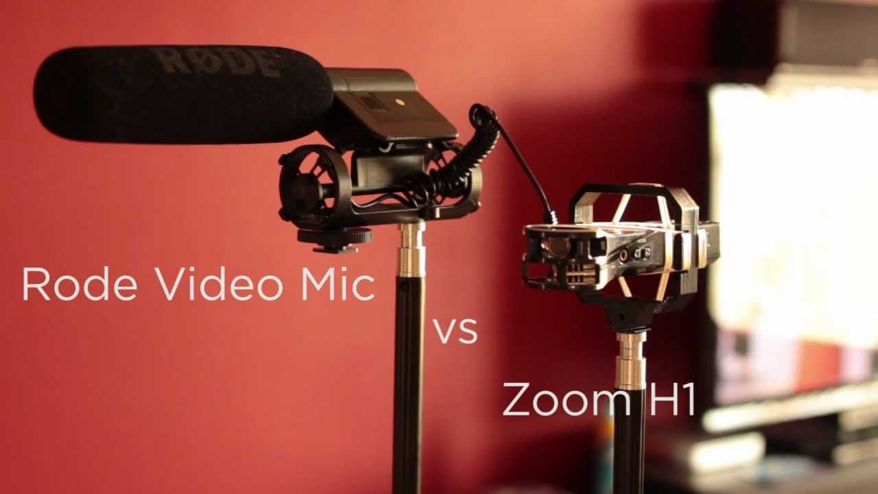 Rode Video Mic And Zoom H1 Comparison Videomicro Micro