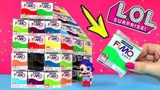 ДОМ из ПЛАСТИКИ FIMO для КУКОЛ LOL SURPRISE! Где купить пластику? Игрушки своими руками Анна Оськина
