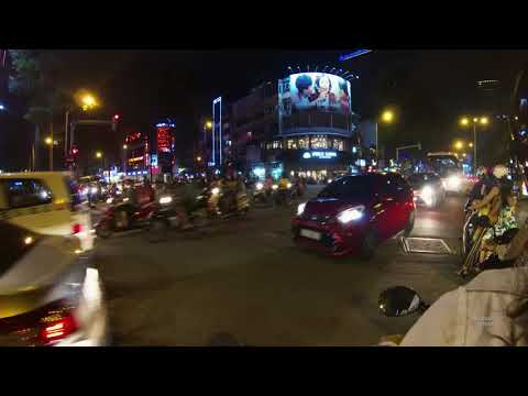 Dodging Cars on a Motorcycle in Ho Chi Minh, Vietnam (HD)