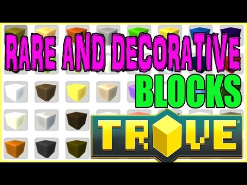 Trove PC PS4 Xbox One Tutorial: How To Get And Make Rare And Decorative Blocks In Trove!