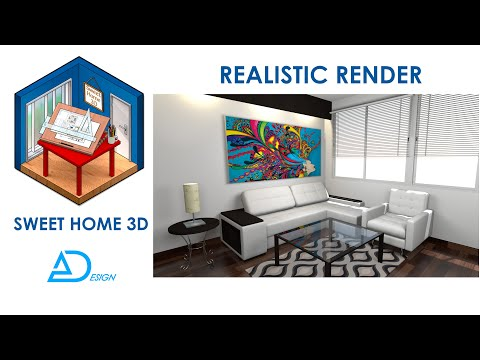 Sweet home 3D tutorial: The key to realistic rendering