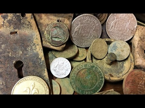 Metal Detecting Old Gold Mining Town Old Coins And Silver Found Part 4