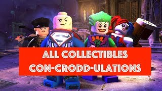 Lego DC Super Villains Con-Crodd-Ulations Free Play 100% all Minikits and Collectibles