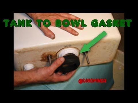 REPLACE TANK TO BOWL GASKET STOP LEAKING