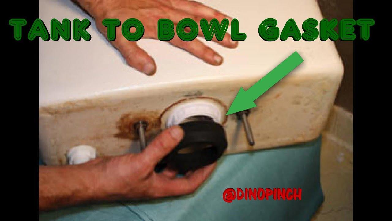 Toilet Bowl Tank Parts.  REPLACE TANK TO BOWL GASKET STOP LEAKING YouTube