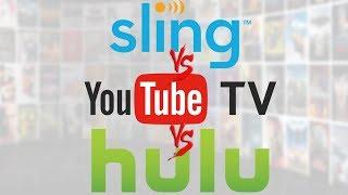 Streaming Showdown - Sling TV vs. Youtube TV vs. Hulu Live