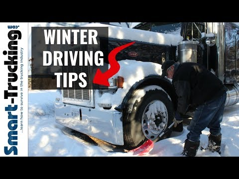 Our Top Winter Driving Tips For Truck Drivers (For Keeping The Rubber Side Down!)