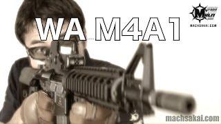 ウエスタンアームズ WA M4A1 フルメタルカスタム Mk18mod0 ガスブローバックの開封レビューをマック堺がやってみた#62 thumbnail
