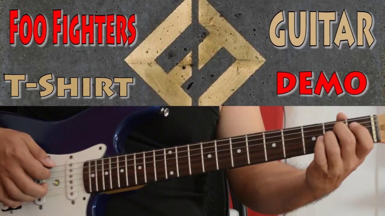 Black t shirt tambah lagi - Foo Fighters T Shirt Guitar Demo