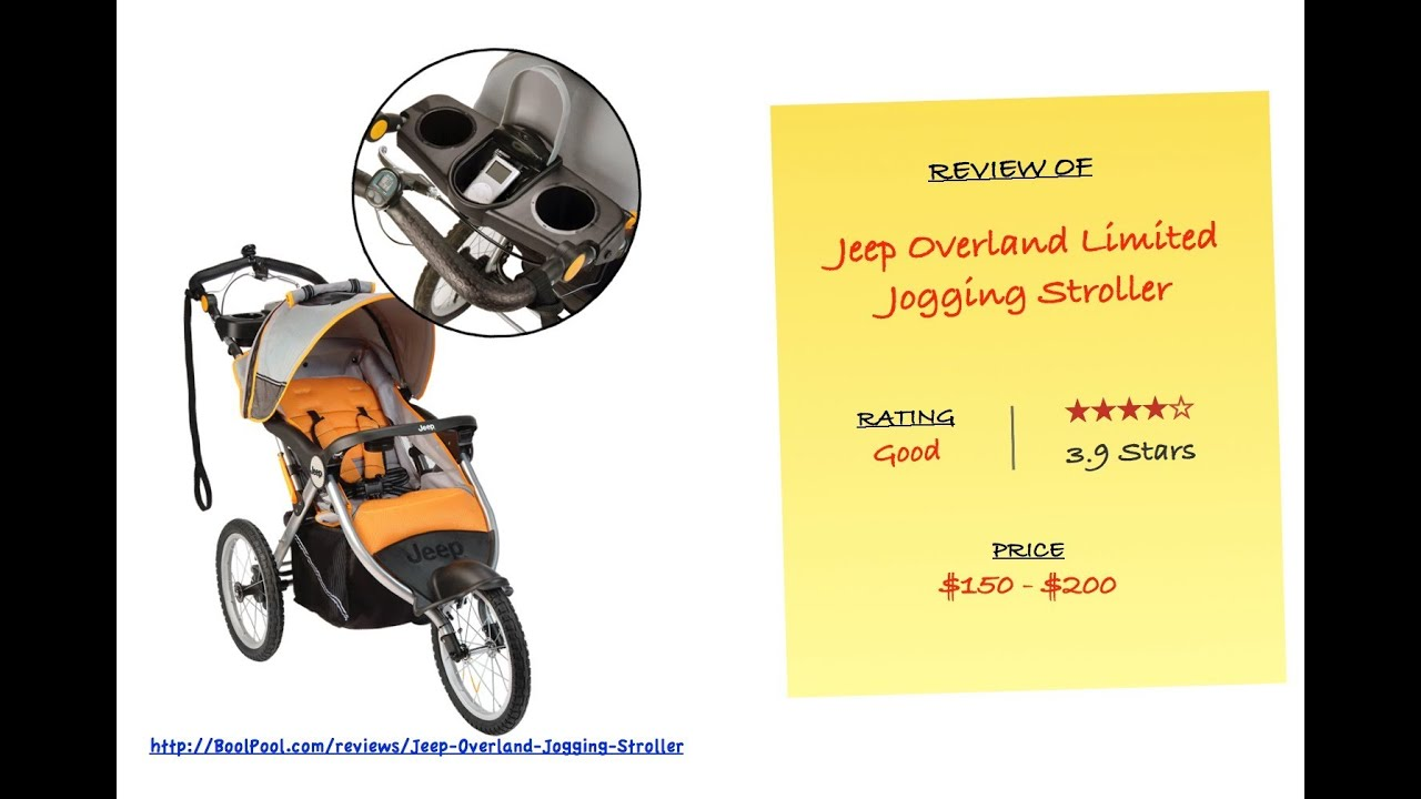 Review of Jeep Overland Limited Jogging Stroller with Front Fixed ...