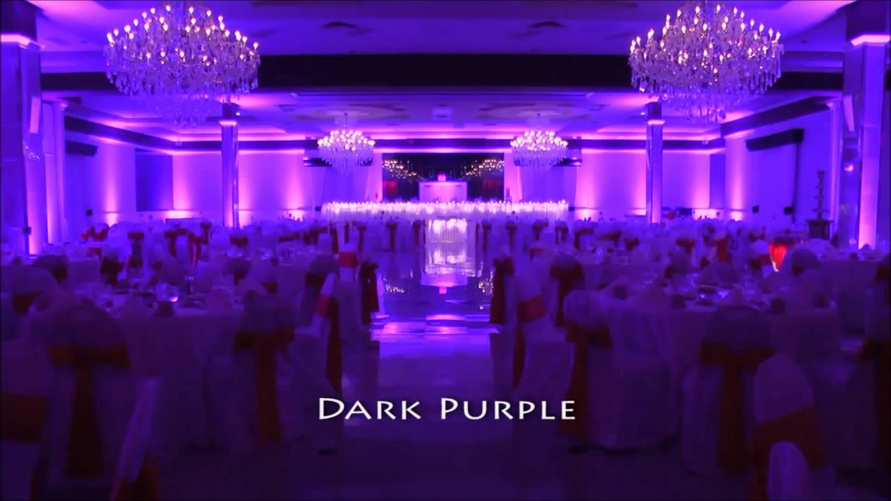 & LED Lights for wedding ballroom - YouTube