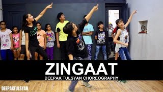 Zingaat Dance Choreography | Adv. Kids | Class Video | Dhadak | Bollywood Dance | Deepak Tulsyan