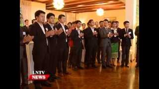Lao NEWS on LNTV: Twenty four Lao students leave to study in Japan.17/8/2015
