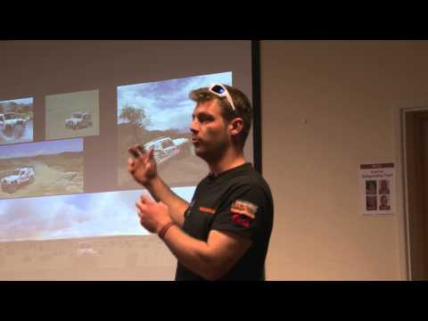 Race2Recovery's Tony Harris talks to Stoke on Trent College students