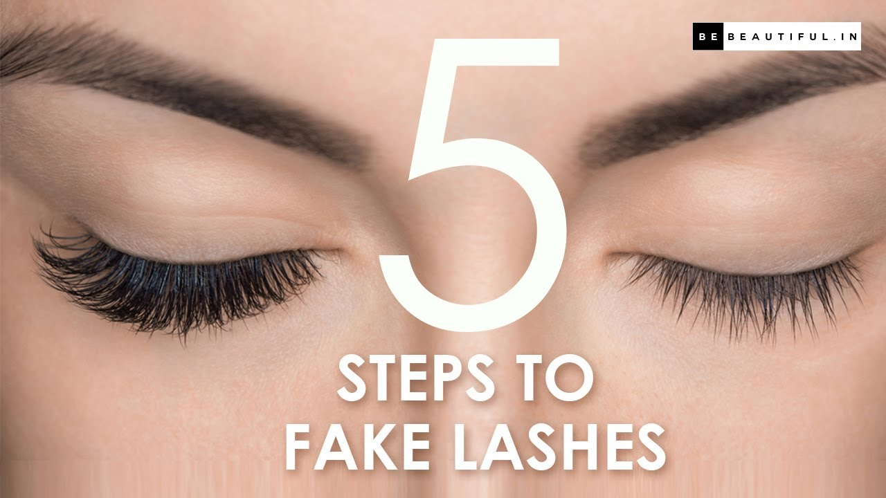How To Apply Fake Lashes For Beginners