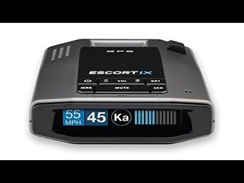 New Escort iX Long Range Radar Laser Detector Black Specifications Detailed