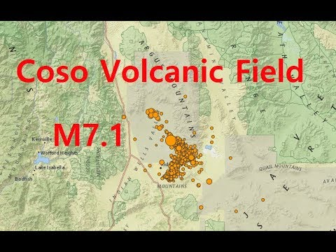 California 7.1 Strikes A Volcanic Field - Could This Be A Precursor To Volcanic Activity?
