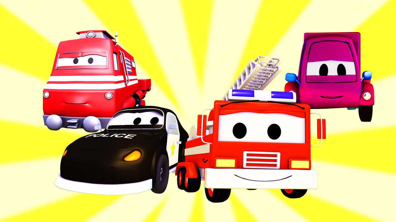 La Super Patrulla Con El Tren Y El Cochecito Rosa En Auto