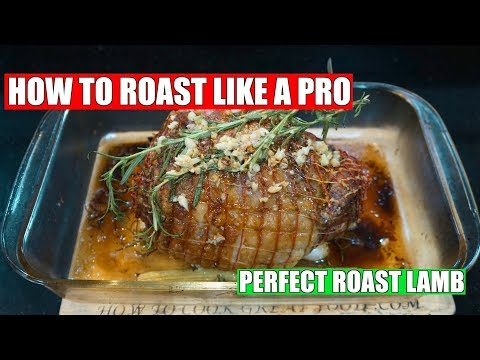 Roast Lamb - How To Roast Lamb - Oven Roast Lamb Joint - Homemade Gravy