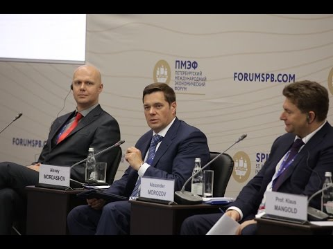 SPIEF 2016.  Russia — Germany Roundtable. Industry 4.0 Discussion with German Industrial Leaders