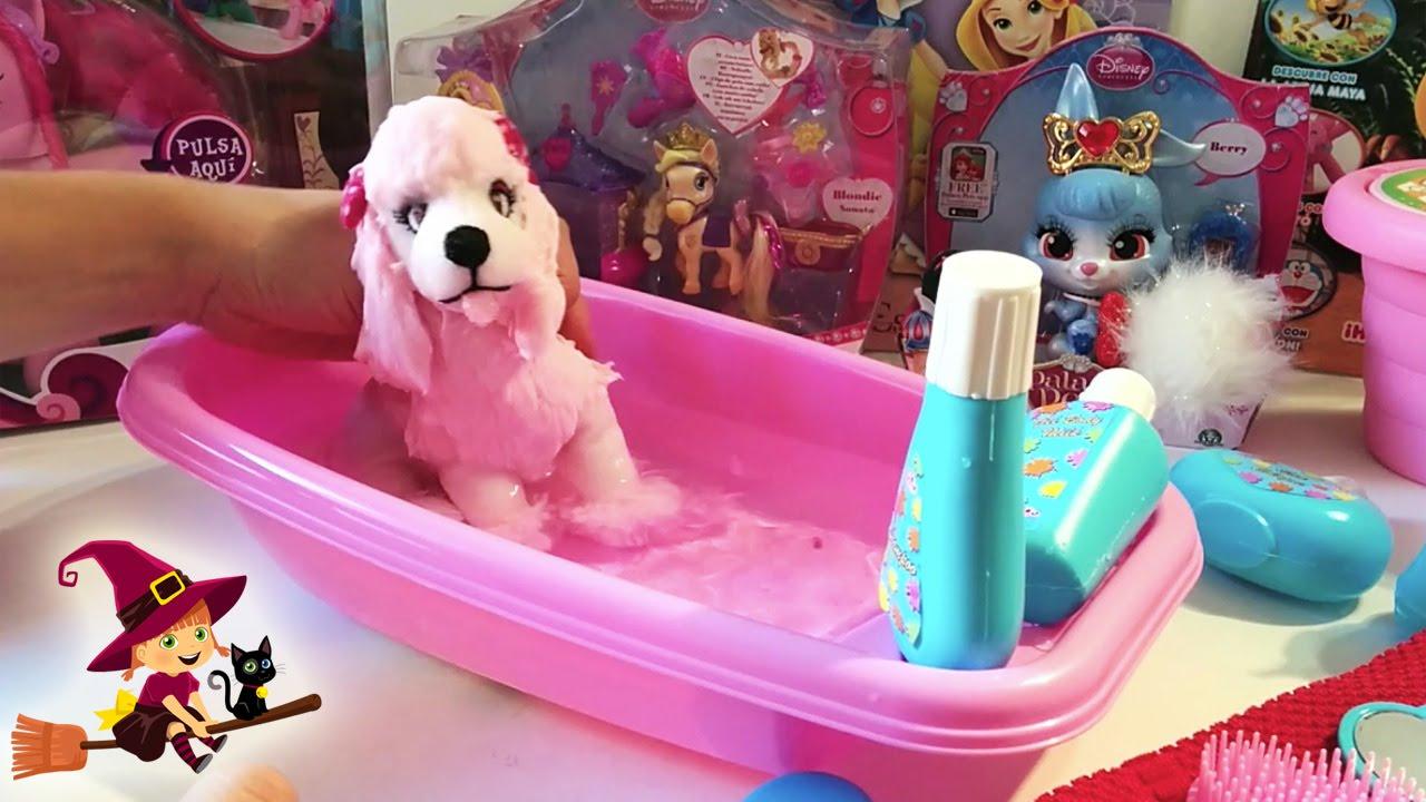 Juguetes de Baño | Bañera con accesorios de baño | Perro de peluche ...