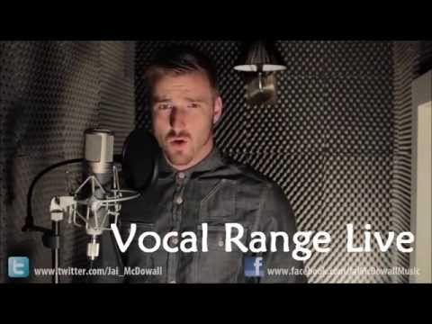 Jai McDowall Vocal Range Live (C2 - Bb5)