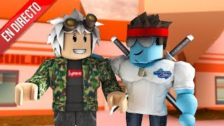 PLAYING JAILBREAK WITH SUBS AND KRAOESP!! DIRECT ROBLOX (+ SORTEO 1000 ROBUX!)