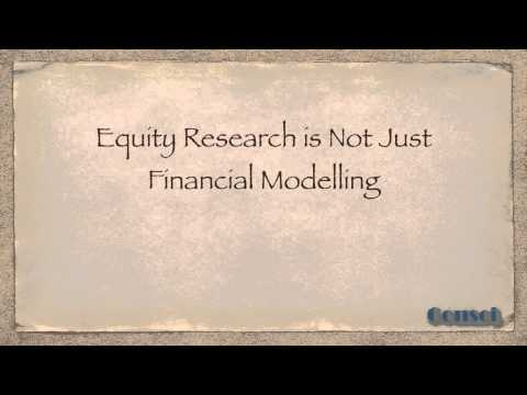 Equity Research is Not Just Financial Modelling