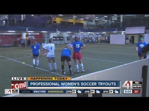 Professional women's soccer tryouts