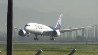 LAN Airlines first 787 Landing SCEL, inaugural flight