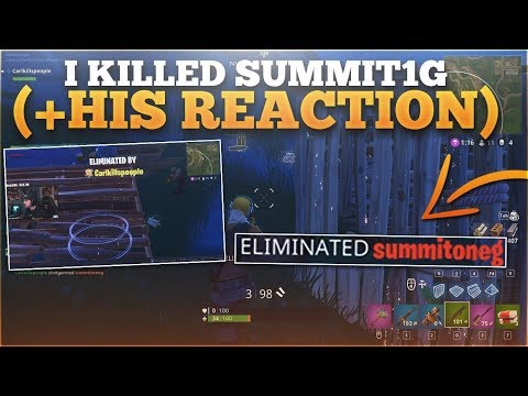 Randomly Killing Summit1g In A Fortnite 1v1 Live! (I freaked out)