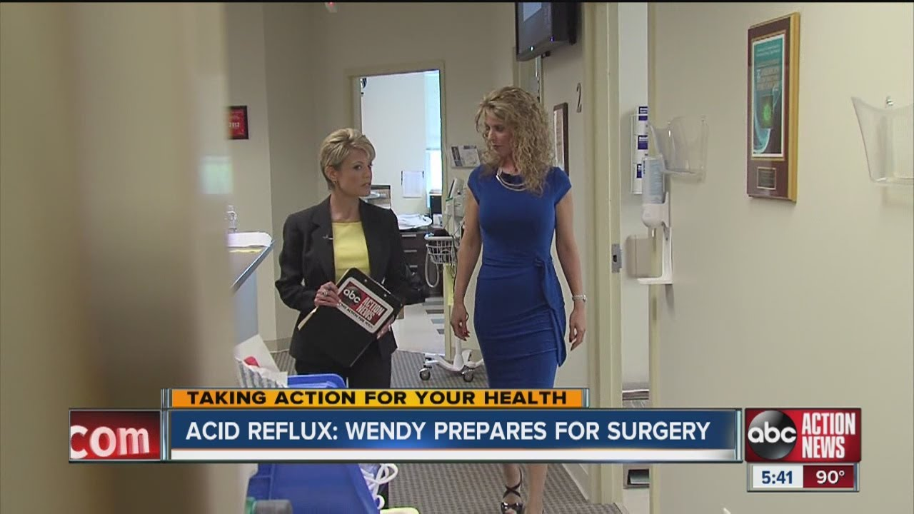Wendy Ryan prepares for surgery to repair acid reflux and the ...