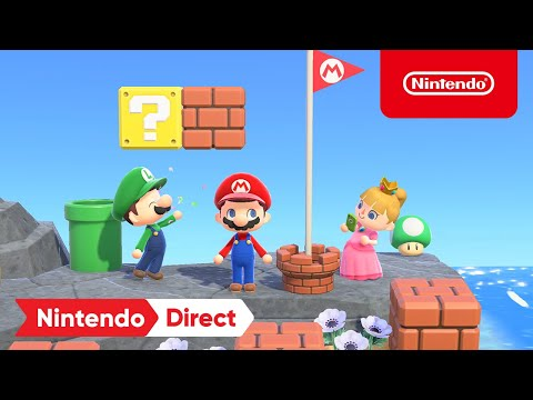 Animal Crossing: New Horizons x Super Mario Collaboration Items - Nintendo Direct 2.17.2021